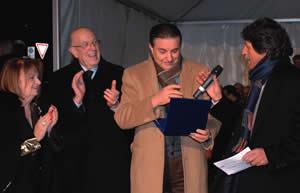Premiazione da parte dell' Onorevole Tiziana Maiolo
